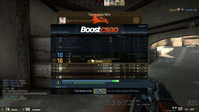 csgo boosting to ge